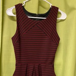 maroon above the knee  sleeveless dress